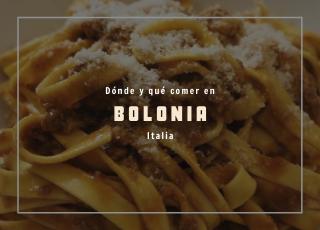 comer en bolonia