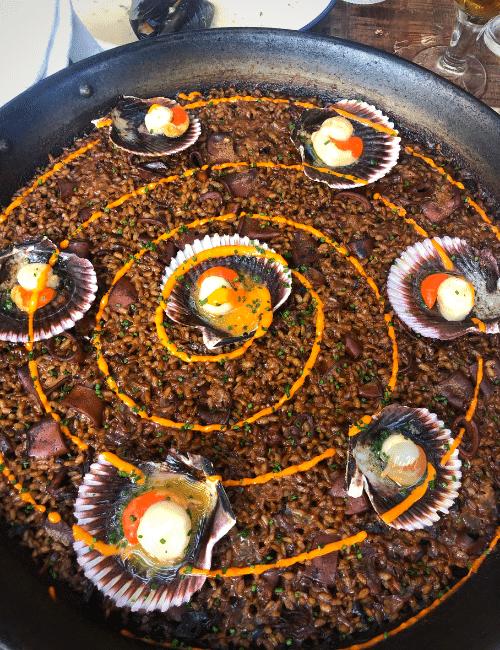 arroz de zamburiñas